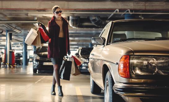 Kostenlose Parkplätze für Kunden Modehaus Biewendt